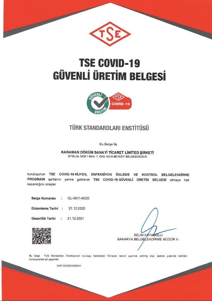 TSE COVID-19 GÜVENLİ ÜRETİM